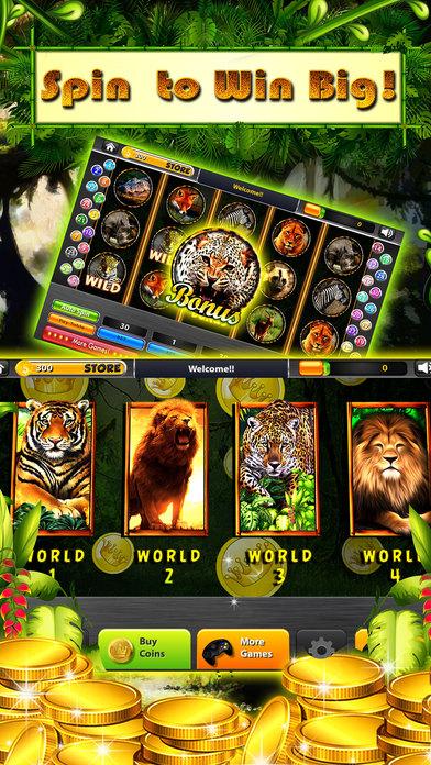Screenshot 2 Rainforest Wild Animals Slots – Combo 777 Casino's