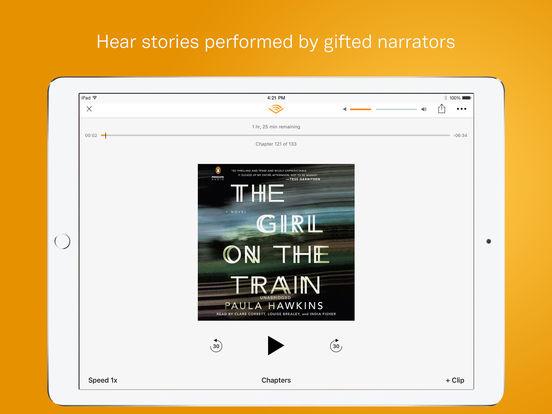Screenshots of Audible for iPad