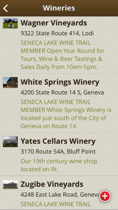Finger Lakes Wine Country iPhone Screenshot 3