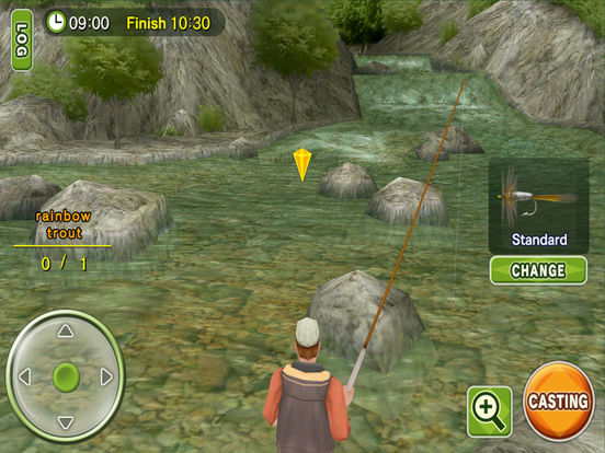 Fly Fishing 3D HD iPad Screenshot 2