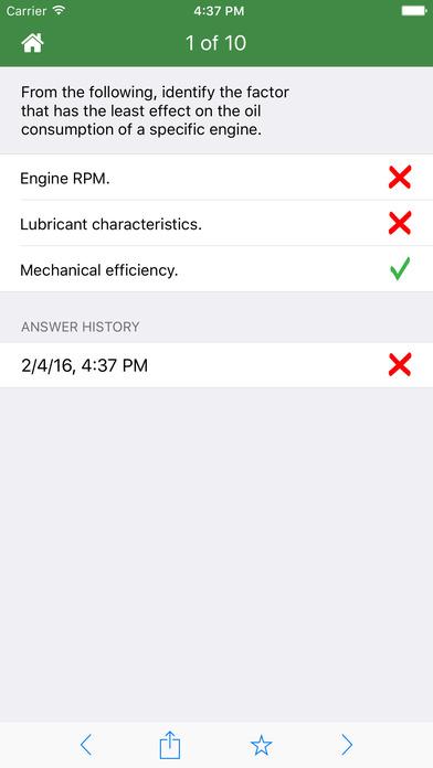 FAA Test Prep - Aviation Mechanic Powerplant (AMP) iPhone Screenshot 1