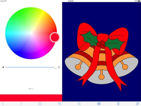 My Holiday Coloring Book Free iPad Screenshot 1
