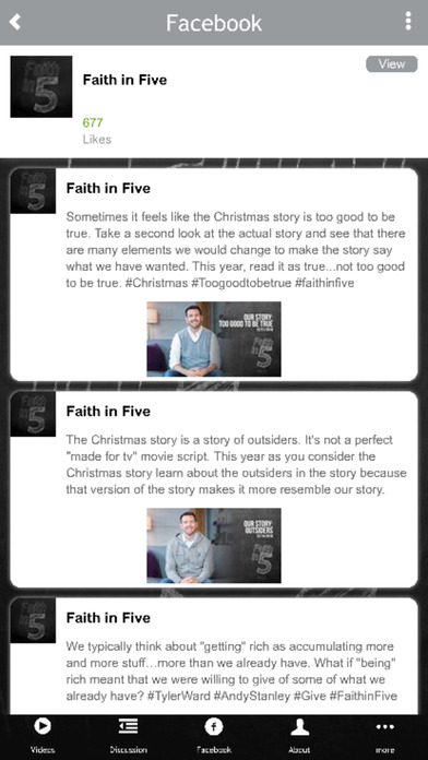 Faith in Five iPhone Screenshot 3