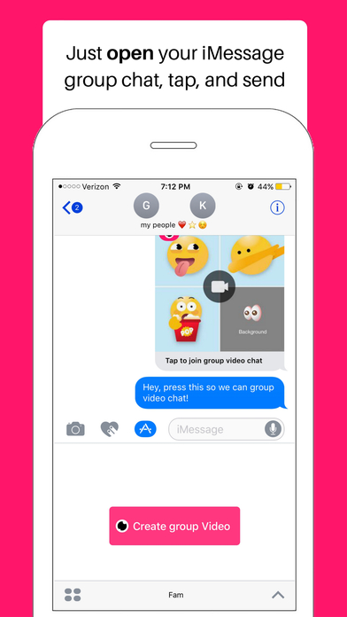 download Fam - group video for iMessage apps 2