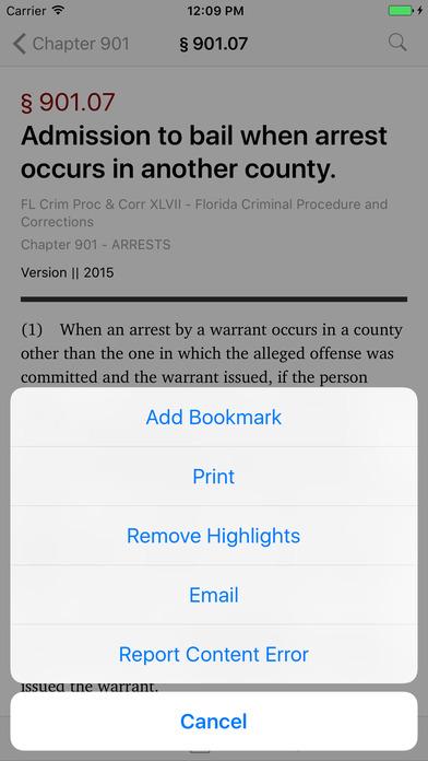 Florida Criminal Procedure and Corrections Code (FL Law) iPhone Screenshot 3