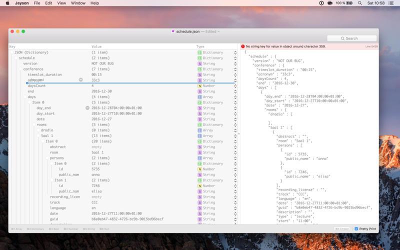 Jayson - Visual JSON Editor for Mac