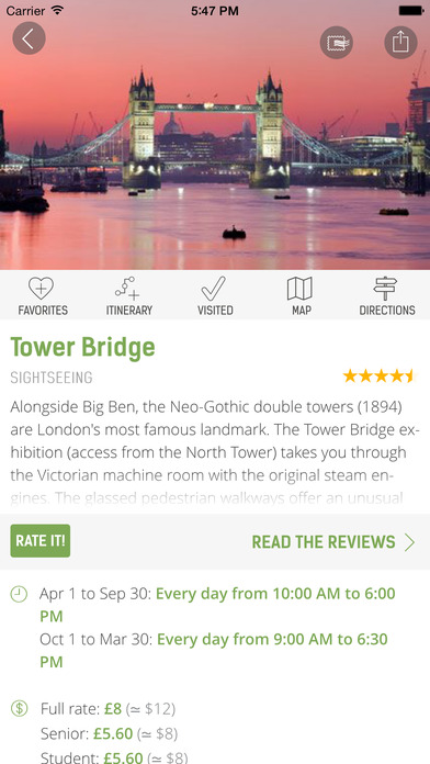 London Travel Guide (with Offline Maps) - mTrip Screenshots