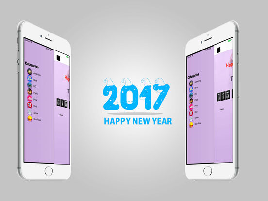 HD wallpapers Happy New Year 2017 iPad Screenshot 4