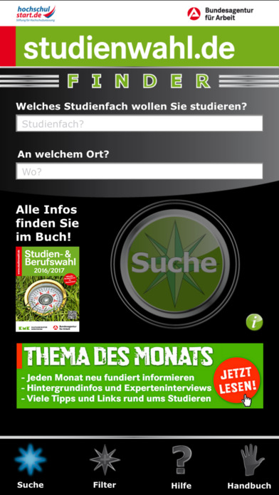 studienwahl.de iPhone Screenshot 1