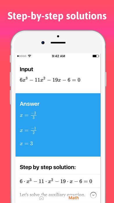ScanMath - Photo Math Homework Answers And Solver Apps free for iPhone/iPad screenshot