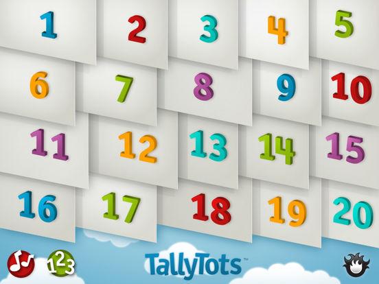 TallyTots Counting Screenshots