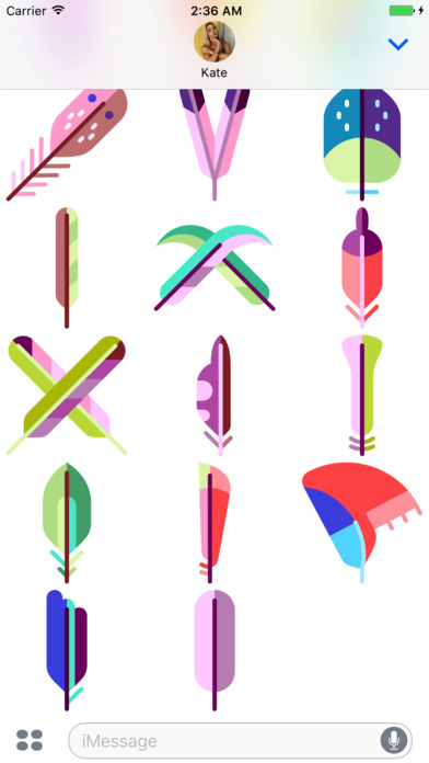 Feather Stickers app image