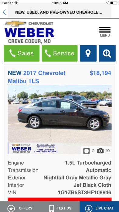 Weber Chevrolet iPhone Screenshot 4