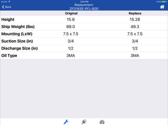 Copeland X-Ref iPad Screenshot 3