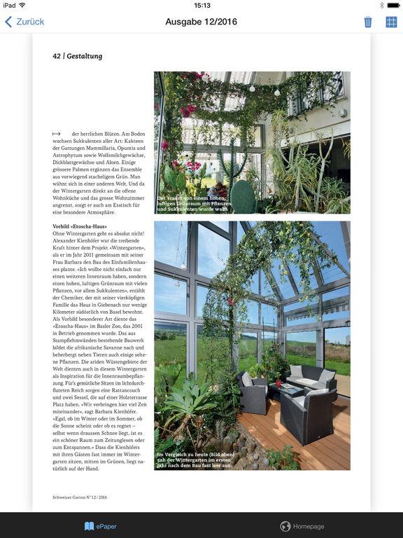 app shopper schweizer garten magazin lifestyle. Black Bedroom Furniture Sets. Home Design Ideas