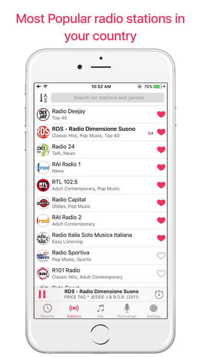 App shopper italia radio live stream radio music for Radio parlamento streaming
