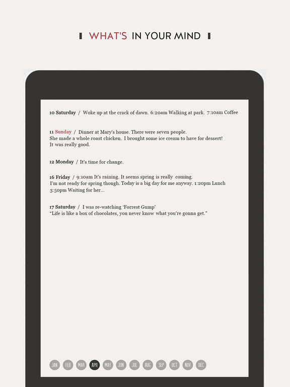 DayGram - One line a day Diary (Note/Journal) Screenshots