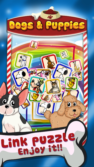Connect Puzzle Dogs & Puppies Logic Games screenshot 1