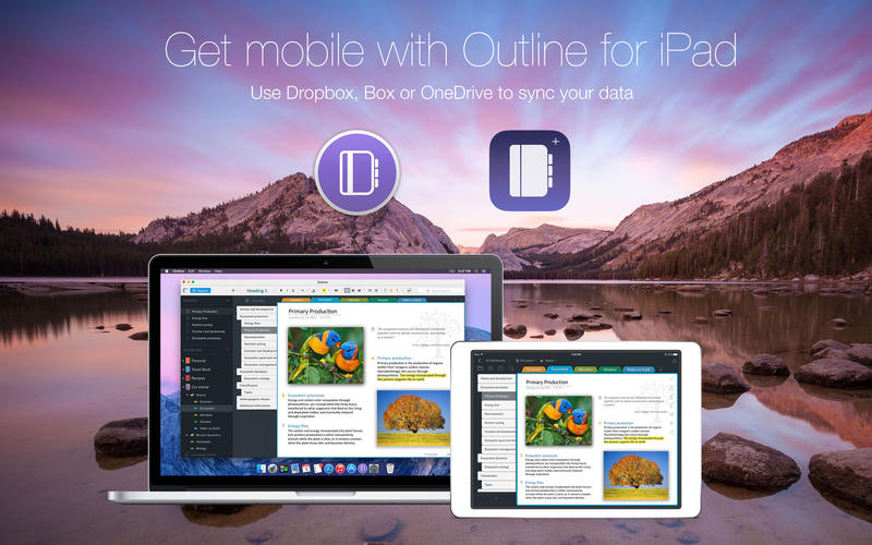 Outline – note app with local storage & cloud sync Screenshots