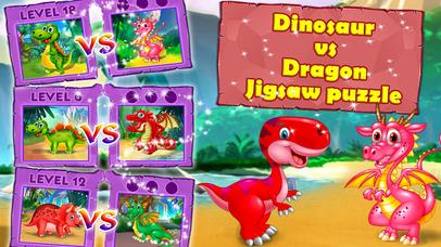 Dinosaur vs dragon: Puzzle screenshot 4