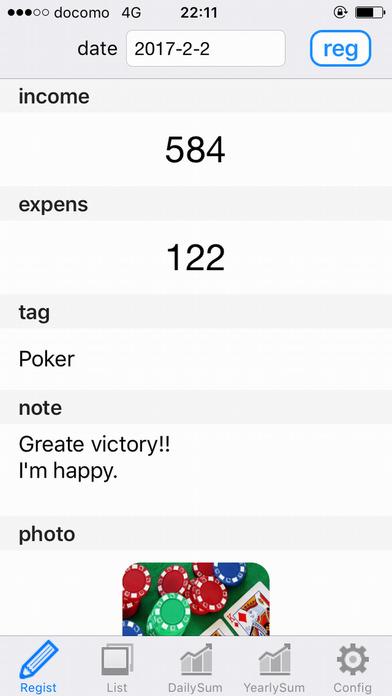 Gambling diary app