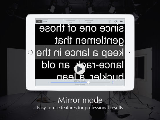 Autocue App - Professional Teleprompter with Video Screenshots