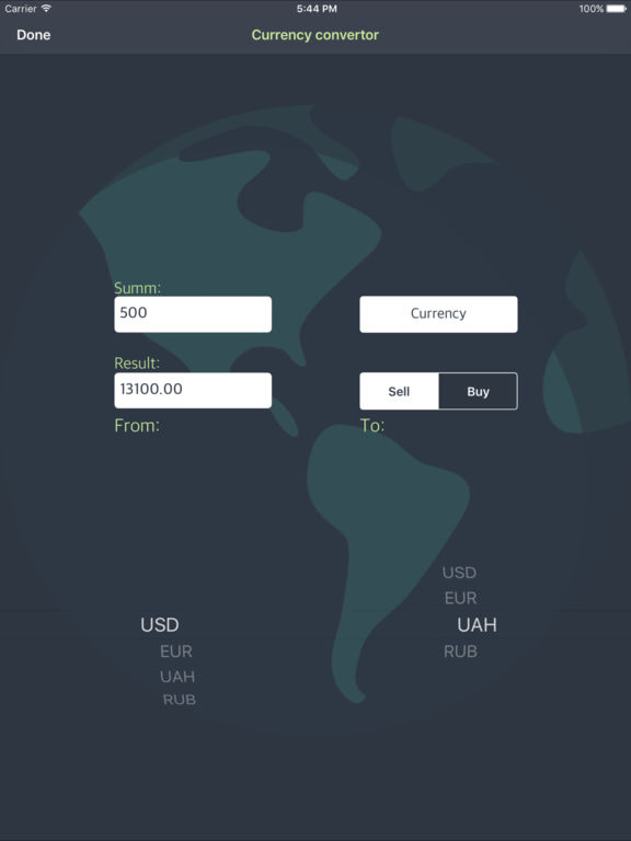 Live Currency Convertor Screenshots
