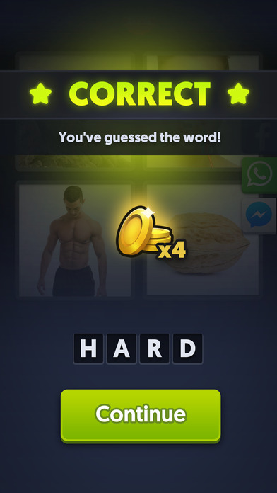 Screenshots of 4 Pics 1 Word for iPhone