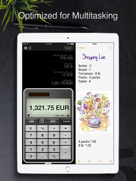 Screenshot #4 for Calculator Pro for iPad - Calculator & Converter