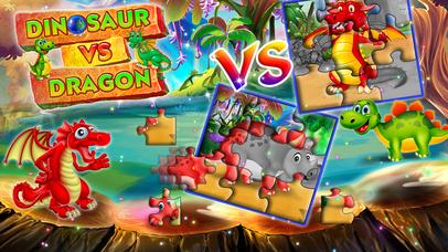 Dinosaur vs dragon: Puzzle screenshot 3