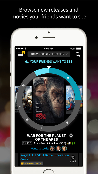 Screenshots of Atom – Movie Tickets and Showtimes for iPhone