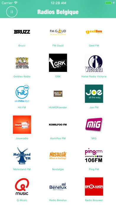 Radios Belgique Pro (Belgium Radio Brussels FM) Screenshots
