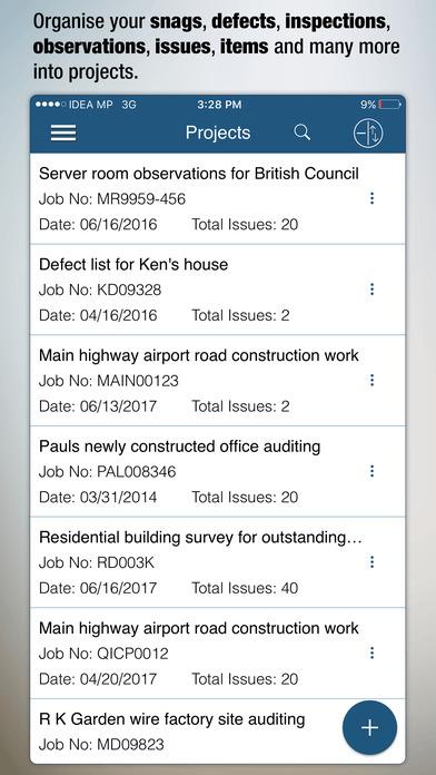 AuditBricks - Site works, Checklists & Inspections Screenshots