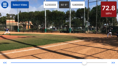 Baseball Radar Gun - stats accurate to +/- 0.5 MPH screenshot 1