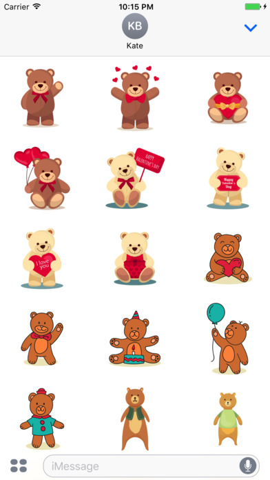 Teddy Bears Stickers for iMessage screenshot 2