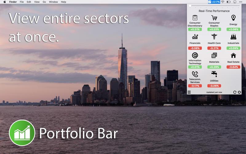 Portfolio Bar for Mac 1.2.3 激活版 - 菜单栏股票行情工具