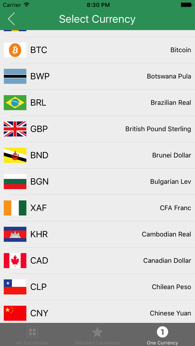 how to change currency on app store