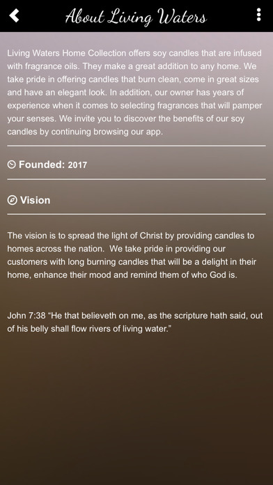 Living Waters Home Collection screenshot 2
