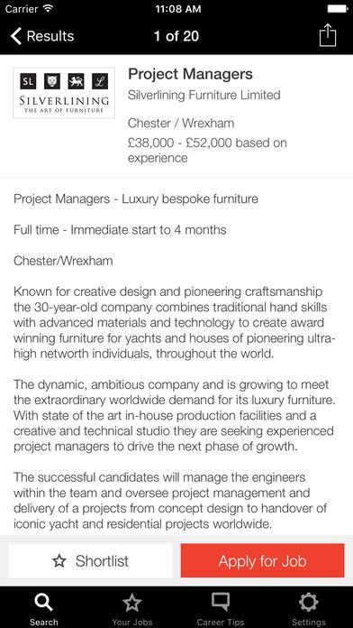 Creative Review Jobs screenshot