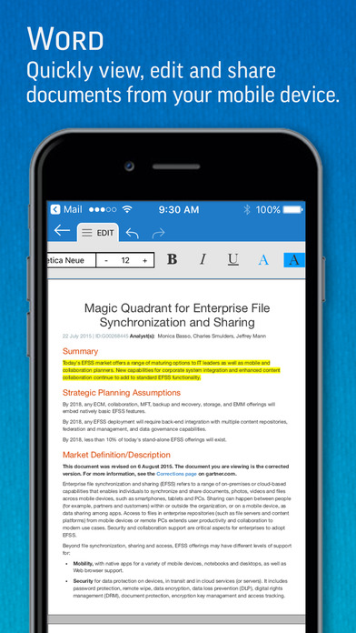SmartOffice - View & Edit MS Office files & PDFs Screenshots