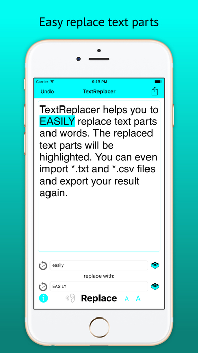 TextReplacer - find and replace reinvented Screenshots