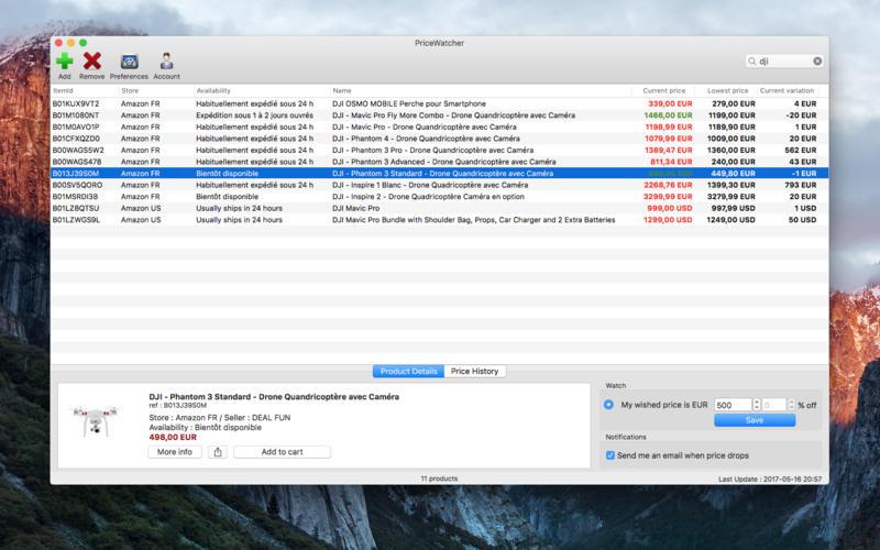 PriceWatcher Screenshots