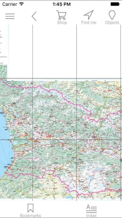 Screenshot for Georgia. Road map in Azerbaijan App Store