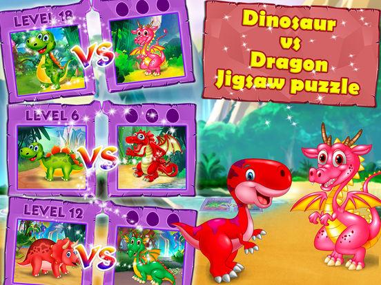 Dinosaur vs dragon: Puzzle screenshot 9