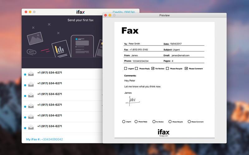 iFax – Send Fax & Receive Faxes for Mac