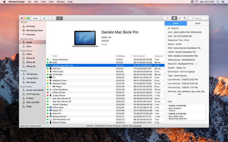 Network Radar for Mac 2.2.3 破解版 - Mac 上优秀的网络扫描和管理工具