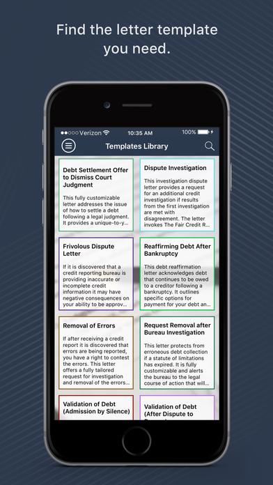 Widget Credit Repair Services Screenshot