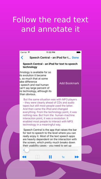 Screenshot #9 for Speech Central: Web Text to Speech