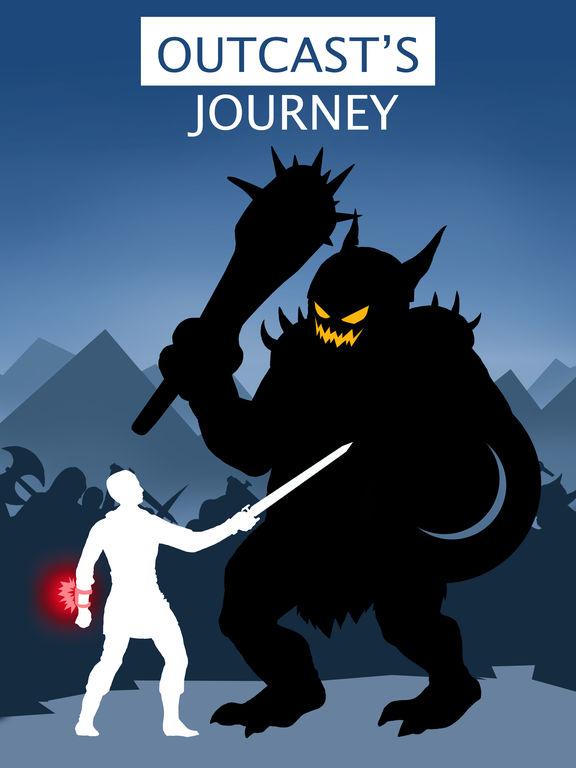 Outcast's Journey - Текстовый квест игра на iPad