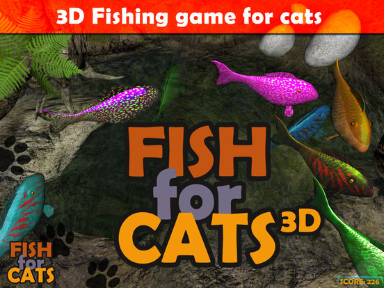 App shopper fish for cats 3d fishing game for cats games for Fish cat game